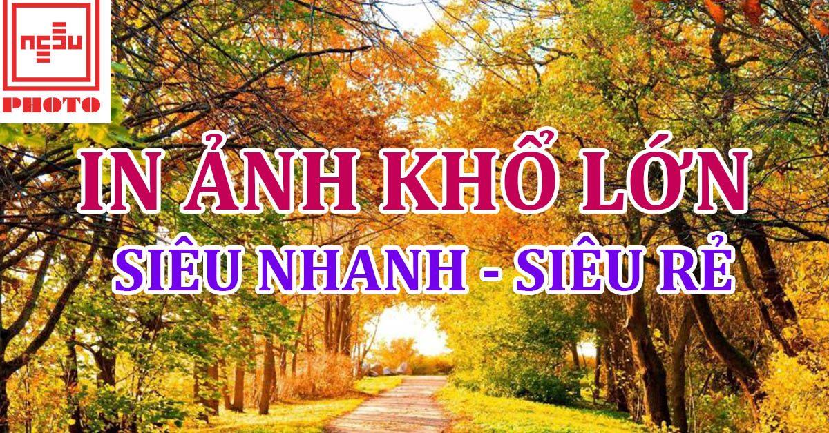 In ảnh khổ lớn siêu nhanh, giá siêu rẻ tại Hà Nội